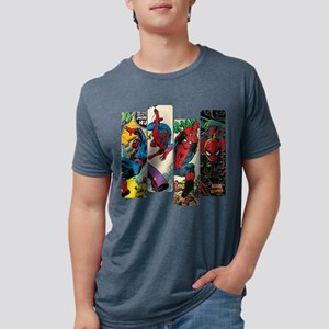 Spiderman Comic Panel Mens Tri-blend T-Shirt