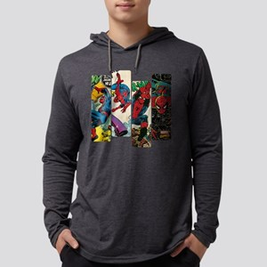 Spiderman Comic Panel Mens Hooded Shirt