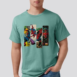 Spiderman Comic Panel Mens Comfort Colors Shirt