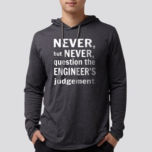 Never but never engineer Mens Hooded Shirt