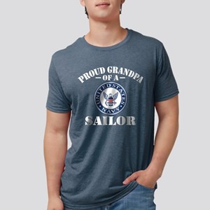 Proud Grandpa Of A US Navy  Mens Tri-blend T-Shirt
