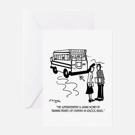 Driver's Ed Uses a School Bus Greeting Card