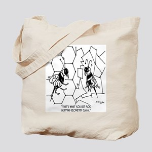Bee Skips Geometry Class Tote Bag