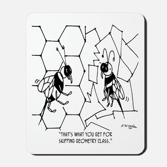 Bee Skips Geometry Class Mousepad