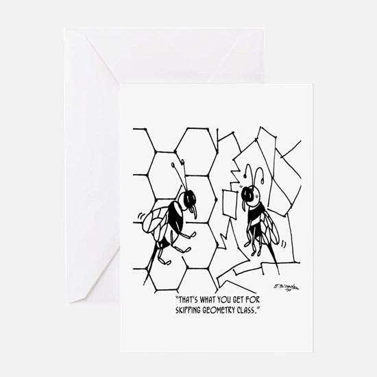 Bee Skips Geometry Class Greeting Card