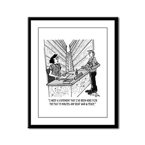 Read War & Peace in 15 Minutes Framed Panel Print