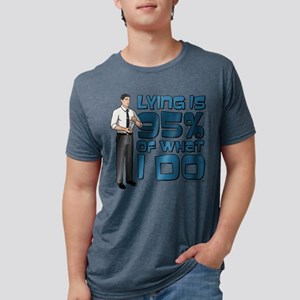 Archer Lying Light Mens Tri-blend T-Shirt