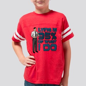 Archer Lying Light Youth Football Shirt