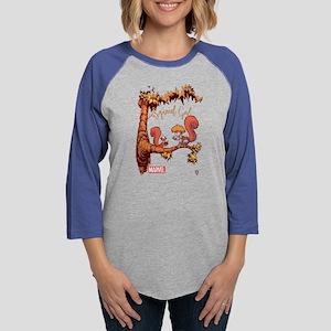 Squirrel Girl Branch Dark Womens Baseball Tee