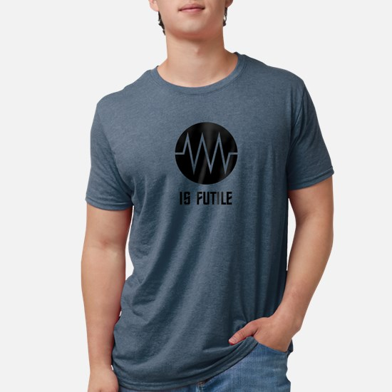 Resistance Symbol is Futile Mens Tri-blend T-Shirt