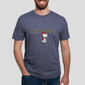 Peanuts Snoopy Like A Boss  Mens Tri-blend T-Shirt