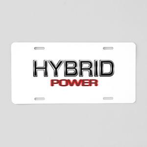 Hybrid POWER Aluminum License Plate