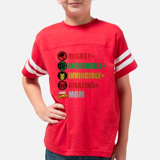 Marvel Mothers Day Personaliz Youth Football Shirt