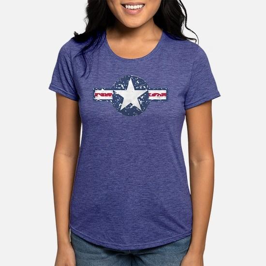 Faded Air Force Logo Womens Tri-blend T-Shirt