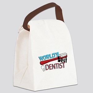 Worlds Best Dentist Canvas Lunch Bag