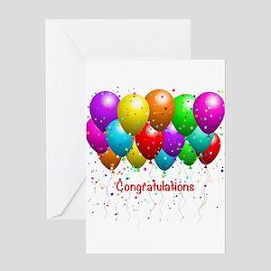 Congratulations Balloons Greeting Card