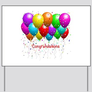 congratulations yard signs cafepress