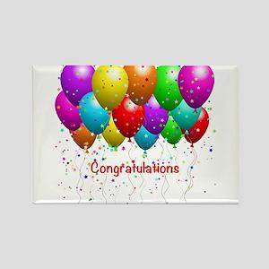 Congratulations Balloons Rectangle Magnet