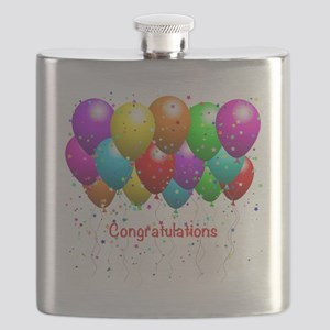 Congratulations Balloons Flask