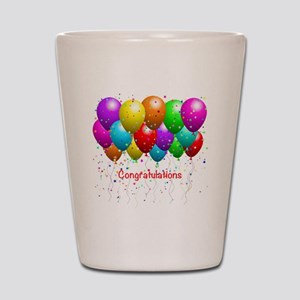Congratulations Balloons Shot Glass