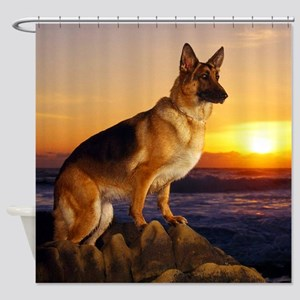 Beautiful German Shepherd Shower Curtain