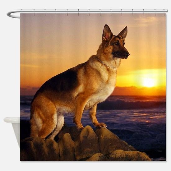 Beautiful German Shepherd Shower Curtain
