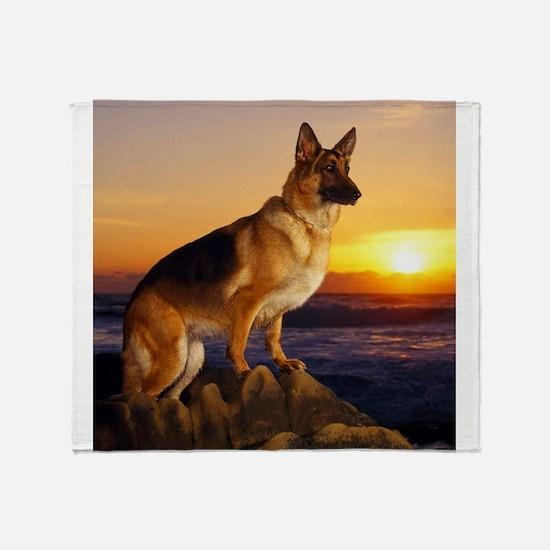 Beautiful German Shepherd Throw Blanket