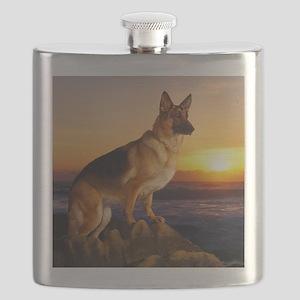 Beautiful German Shepherd Flask