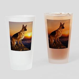 Beautiful German Shepherd Drinking Glass