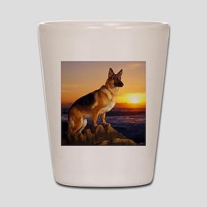Beautiful German Shepherd Shot Glass
