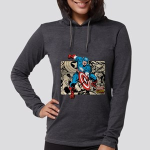 292313_captain_america_retro Womens Hooded Shirt