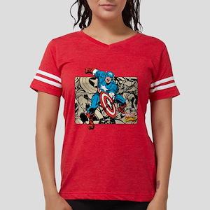 292313_captain_america_retro Womens Football Shirt