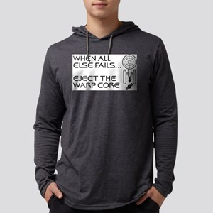 Eject the Warp Core Mens Hooded Shirt