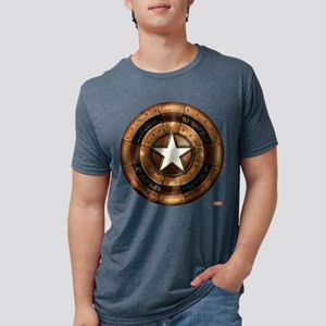 Captain America Steampunk S Mens Tri-blend T-Shirt