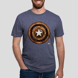 Captain America Steampunk S Mens Tri-blend T-Shirt