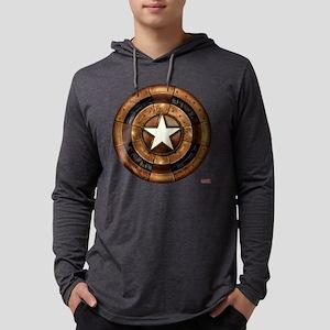 Captain America Steampunk Shield Mens Hooded Shirt