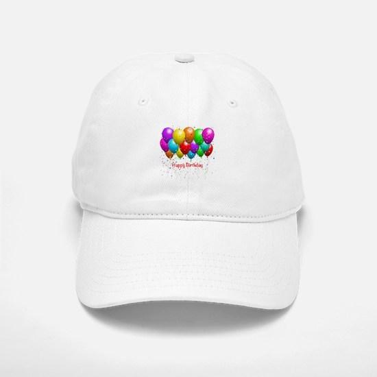 Happy Birthday Balloons Baseball Hat
