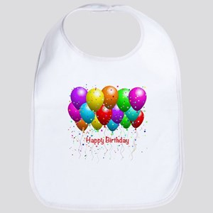 Happy Birthday Balloons Bib