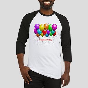 Happy Birthday Balloons Baseball Jersey