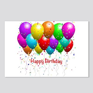 Happy Birthday Balloons Postcards (Package of 8)