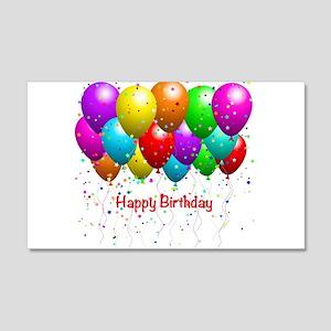 Hy Birthday Balloons Wall Decal