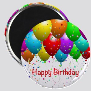 "Happy Birthday Balloons 2.25"" Magnet (10 pack)"