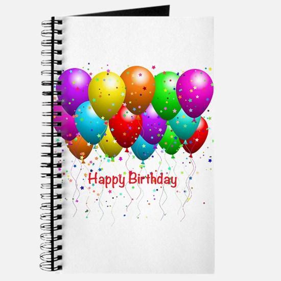 Happy Birthday Balloons Journal