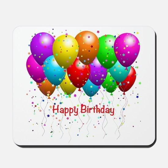 Happy Birthday Balloons Mousepad