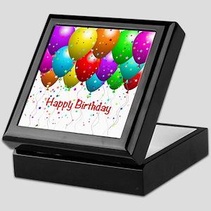Happy Birthday Balloons Keepsake Box