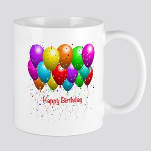 Happy Birthday Balloons Mug