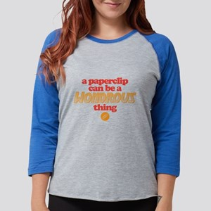 Paperclip Womens Baseball Tee