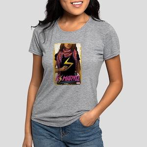 Ms. Marvel Cover Grunge Womens Tri-blend T-Shirt