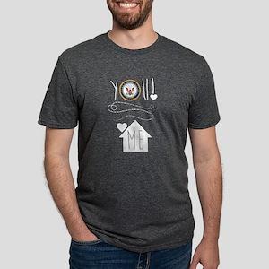 Navy You Love Me  Mens Tri-blend T-Shirt