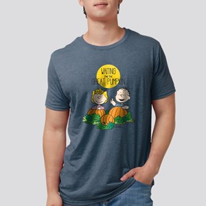 Peanuts Waiting on the Grea Mens Tri-blend T-Shirt